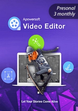Apowersoft Video Eidtor - Personal Edition (3 Monthly)