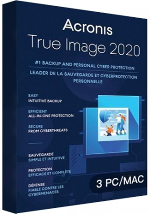 Acronis True Image 2020 - 3 PCs MAC