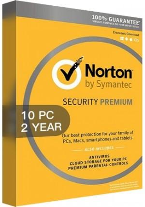 Norton Security Premium 3 Multi Device - 10 Devices/2 Years