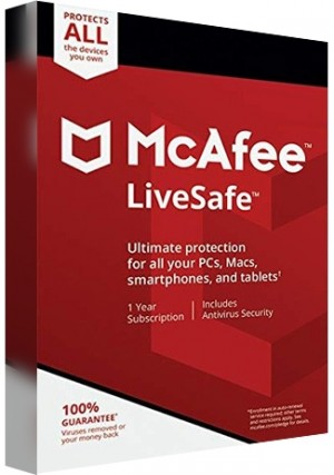 MCAfee Life Safe Unlimited Devices - 1 Year