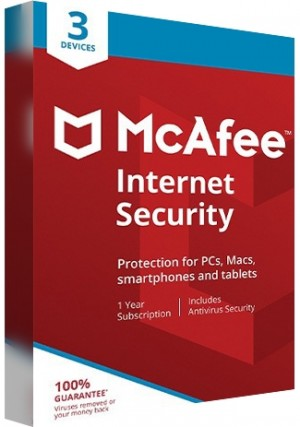 McAfee Internet Security Multi Device - 3 Devices/1 Year