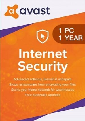 Avast Internet Security - 1 PC - 1 Year