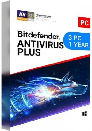 Bitdefender Antivirus Plus / 3 PCs (1 Year)