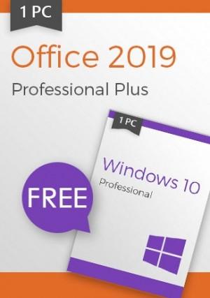 Microsoft Windows 10 Pro + Office 2019 Pro - Package