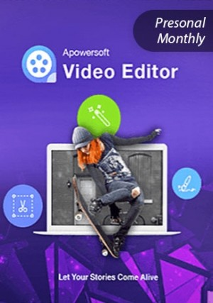 Apowersoft Video Eidtor - Personal Edition (Monthly)
