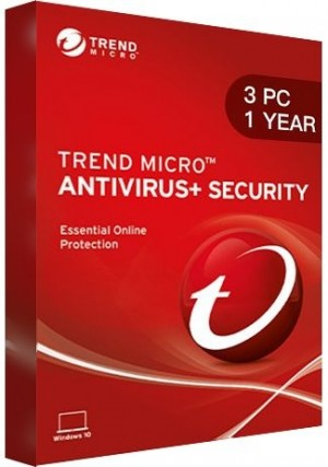 Trend Micro Antivirus + Security / 3 PCs (1 Year)