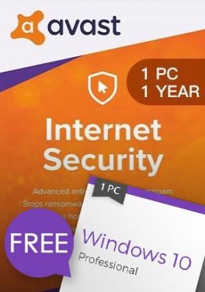 Windows 10 Pro + Avast Internet Security 1 PC 1 Year