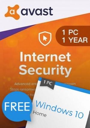 Windows 10 Home + Avast Internet Security 1 PC 1 Year