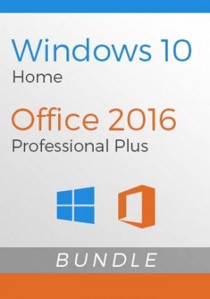 Windows 10 Home + Office 2016 Pro Bundle